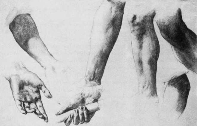 Brocky,_Karoly_-_Arm,_hand_and_leg_studies_(1848-50)